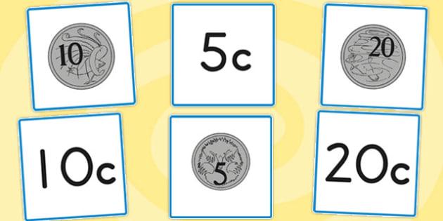 Australian Coins Printable - Australia, coin, flashcards, cards