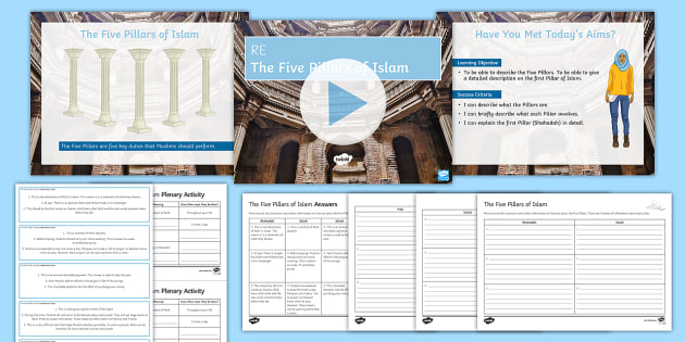 Introduction to the Five Pillars of Islam Lesson Pack - Islamic Practices GCSE Material, pillars