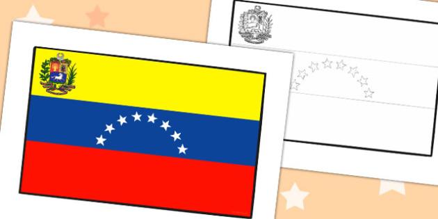 Venezuela Flag Display Cut Out - venezuela, flag, geography, cut