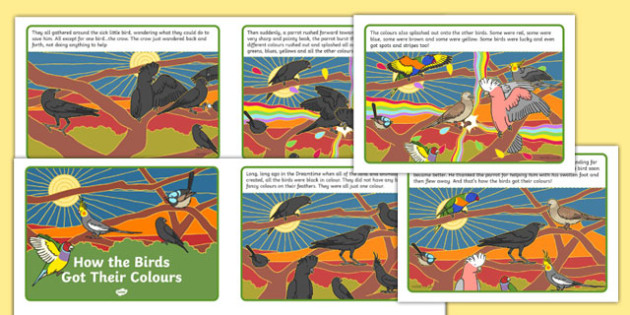 How the Birds Got Their Colours Story Cards-Australia