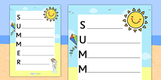 Acrostic Poem Templates Primary Resources - acrostic - Page 1