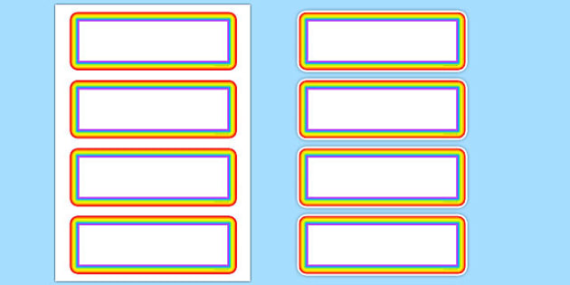 Editable Rainbow Labels - signs, labels, editable labels