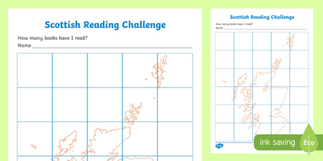 Scottish Reading Challenge Record Chart-Scottish
