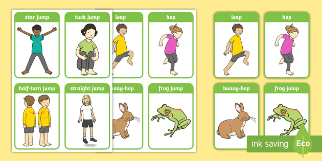 Gymnastic Jumps Display Posters - EYFS planning, early years planning, long term plan