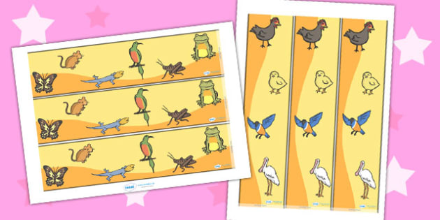 Story Display Borders to Support Teaching on Handa's Hen - border, displays, frames