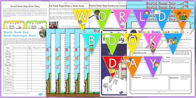 Top 10 World Book Day Resource Pack - top ten, resource pack, world book day