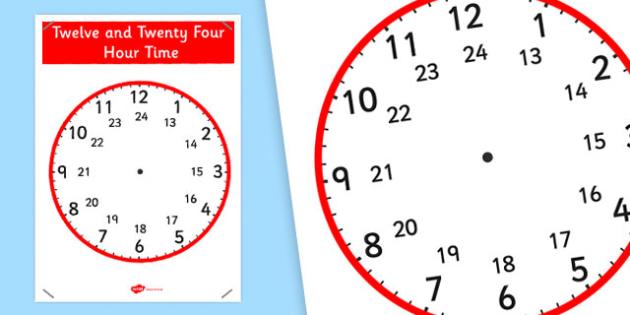 Analogue Clock Display Poster - analogue, time, display, poster