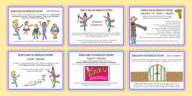 Challenge Posters to Support Teaching on Charlie and the Chocolate Factory - story books