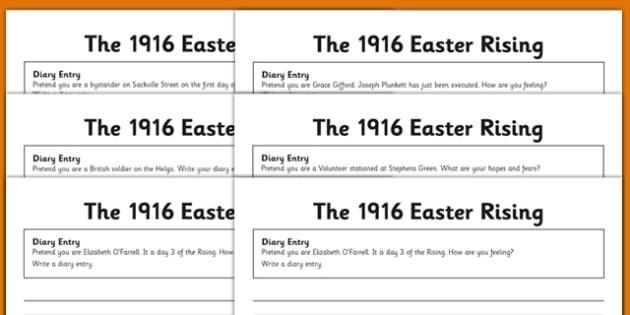 1916 Rising Diary Entries - Easter 1916 Rising, irish history, english,  writing, diary entries