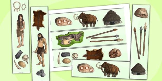 The Stone Age Display Borders - stone age, borders, history