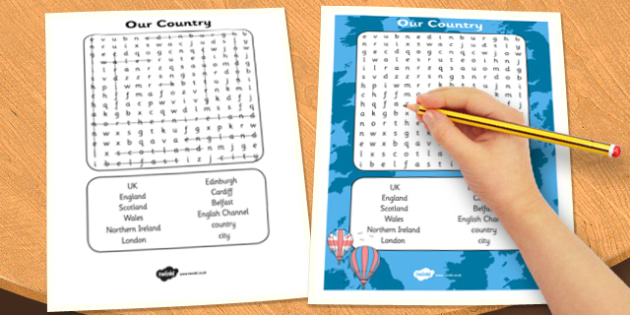 Our Country UK Wordsearch - our country, uk, wordsearch, country