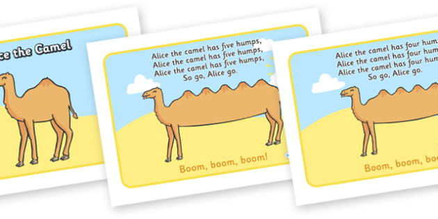 Alice the Camel Sequencing - Alice the Camel, nursery rhyme, rhyme, rhyming, nursery rhyme story, nursery rhymes, Alice the Camel resources, sequencing