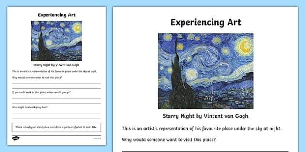 Experiencing Art Activity Sheet, worksheet
