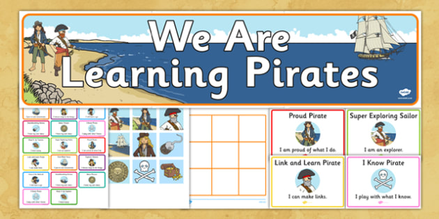 Ready Made Pirate Themed Characteristics of Effective Learning Display Pack - ready made, pirate, characteristics, effective learning, display