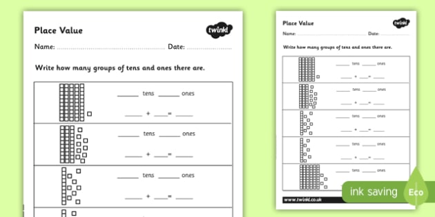 Place Value Worksheet  Place Value Number Activity Sheet Ks