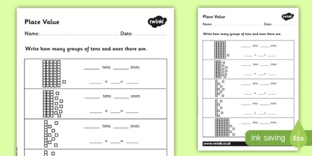 Place Value Worksheet - Place Value, Number Activity Sheet, Ks2