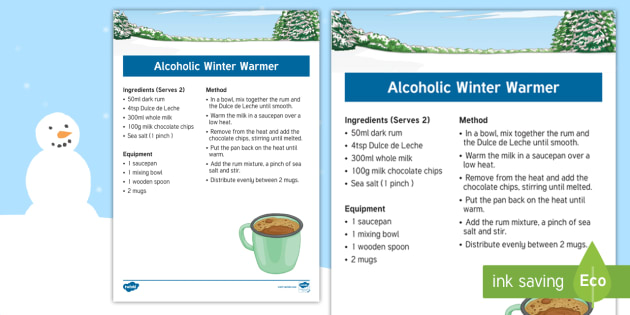 Elderly Care - Winter Recipe - Winter, Season, December, January, February, Snow, Activity Co-ordinators, Support, Ideas, Elderly C