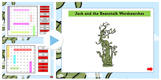 Jack and the Beanstalk Interactive Wordsearch - wordsearch, jack