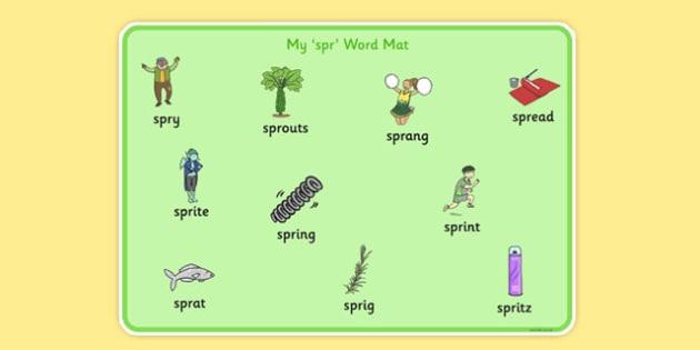 SPR Word Mat - sen, sound, spr sound, spr, word mat, word, mat
