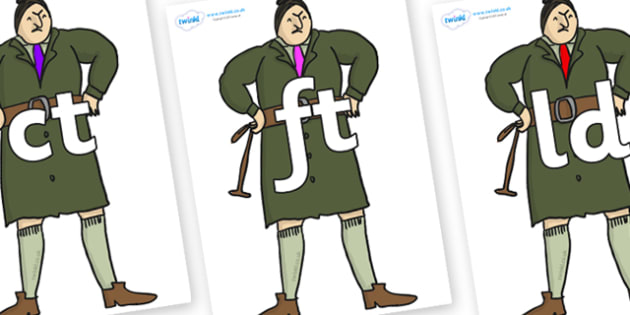 Final Letter Blends on Mrs Trunchbull to Support Teaching on Matilda - Final Letters, final letter, letter blend, letter blends, consonant, consonants, digraph, trigraph, literacy, alphabet, letters, foundation stage literacy