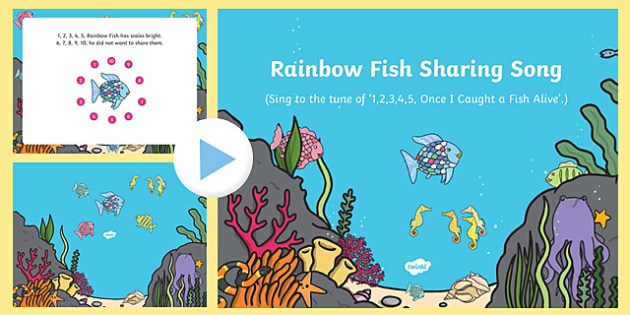 Sharing Song PowerPoint to Support Teaching on The Rainbow Fish