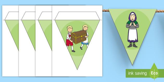 Hansel and Gretel Bunting - bunting, display, hansel, gretel