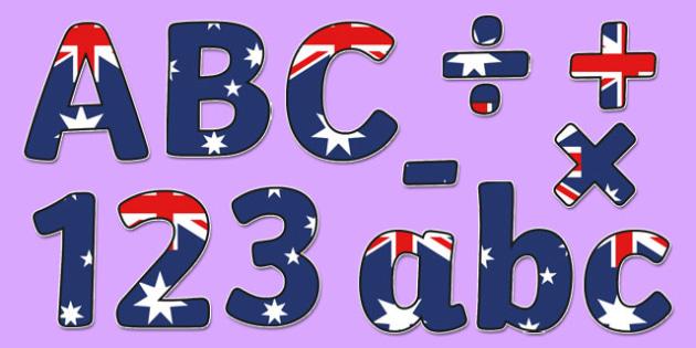 Australian Flag Display Lettering - australia, flag, australian flag, display lettering, display, letter