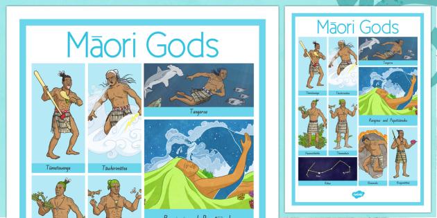 Maori Gods Vocabulary Poster - nz, new zealand, Maori Gods, vocabulary poster, word mat