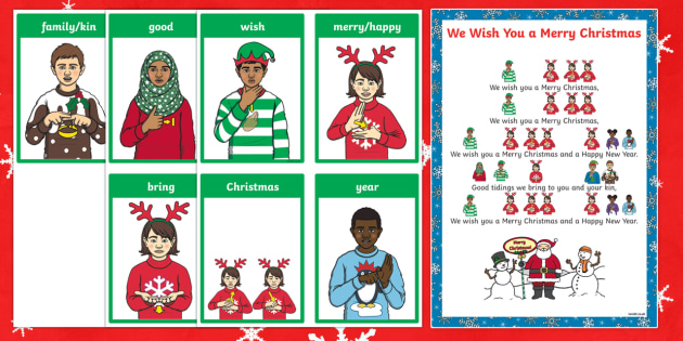 BSL We Wish You a Merry Christmas Song Sheet - BSL Christmas