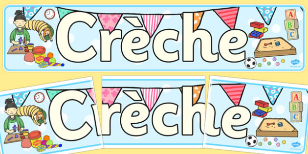 Creche Display Banner - creche, display, banner, display banner