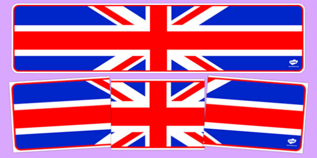 Union Jack British Flag Display Banner - flag, country, UK, England, Scotland, Wales, display, banner, sign, poster, nations, countries, flags, british values