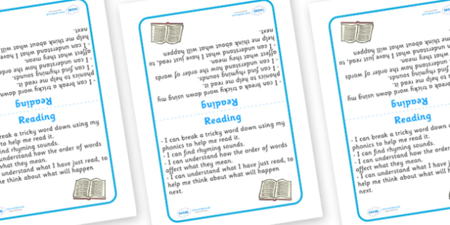 Tabletop Visual Targets English Reading -  English, sign, reading, target, table sign, visual, Literacy, KS1, Foundation Stage, Literacy, CLL