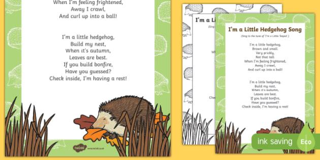 I'm a Little Hedgehog Song