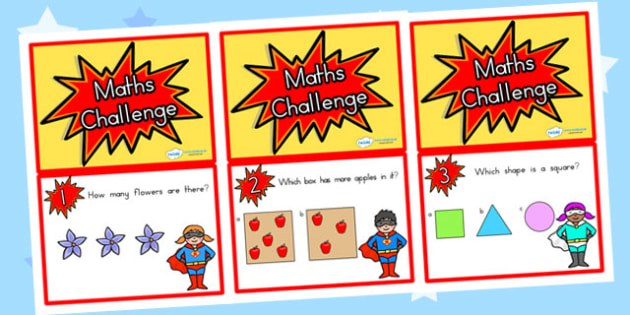 F-2 Maths Challenge Cards  Maths Challenge Cards - reception, reception maths