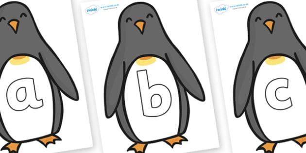 Phoneme Set on Penguins - Phoneme set, phonemes, phoneme, Letters and Sounds, DfES, display, Phase 1, Phase 2, Phase 3, Phase 5, Foundation, Literacy