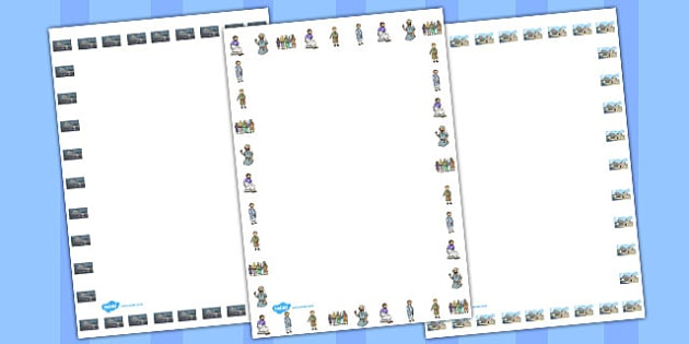 The Two Builders Page Borders - parables, two builders, borders