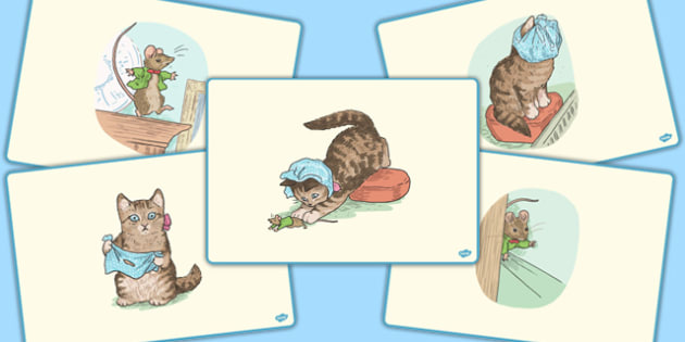The Story of Miss Moppet Short Story Sequencing - beatrix potter, tale, traditional, fun, activity, animals, characters, retell, pictures, illustrated, share, ks1, key stage 1, early years, english, literacy, order