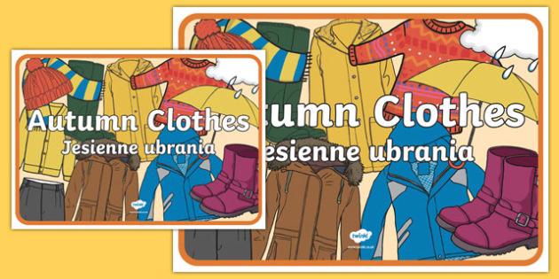 Autumn Clothes Display Poster Polish-Translation-Polish-translation