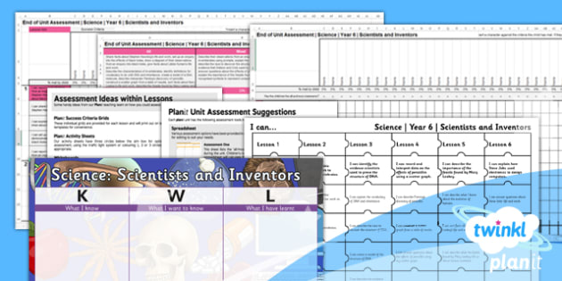 Science: Scientists and Inventors Year 6 Unit Assessment Pack
