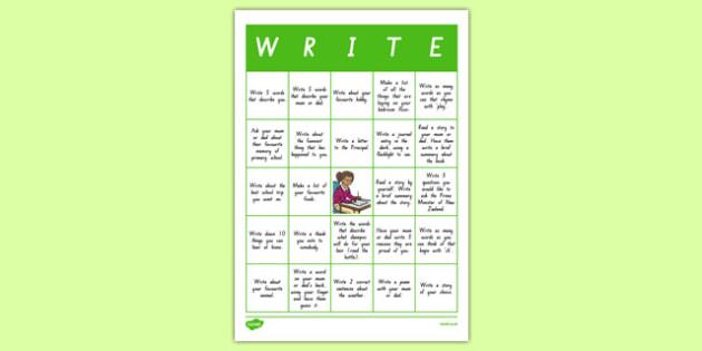 New Zealand Write-O Home Learning Activity Sheet, worksheet