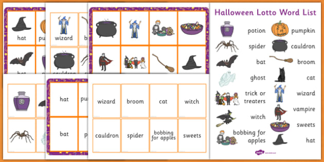 Halloween Lotto Game - halloween, lotto, game, pack, activity
