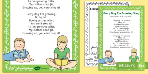Everyday I'm Growing Song
