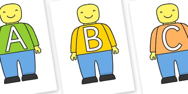A-Z on Building Brick Person - building, brick, person, alphabet