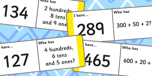 Place Value Loop Cards 3 Digits - place value, loop, cards, 3