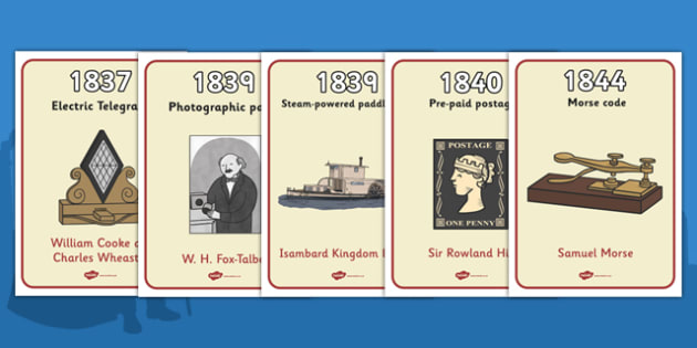 Timeline Of Victorian Inventions (A4) - Victorians, timeline, inventions, invent, A4, Queen Victoria, History, British History, Britain, 19th century