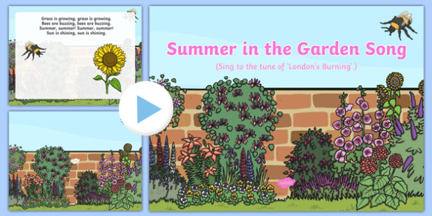 Summer in the Garden Song PowerPoint