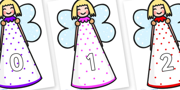 Numbers 0-100 on Christmas Angels - 0-100, foundation stage numeracy, Number recognition, Number flashcards, counting, number frieze, Display numbers, number posters