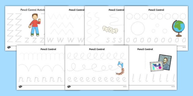 Flat Boy Pencil Control Sheets - flat stanley, flat boy, jeff brown, pencil control