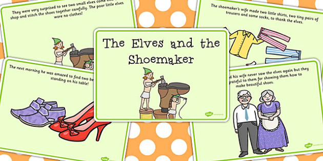 The Elves and the Shoemaker Story Sequencing (A4) - Traditional tale, tales, elves, elf, shoemaker, shoes, stpry sequencing, sequencing, workshop, story, fairytale, story resources, A4, cards