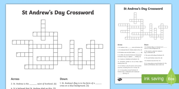Saint Andrew's Day Crossword-Scottish